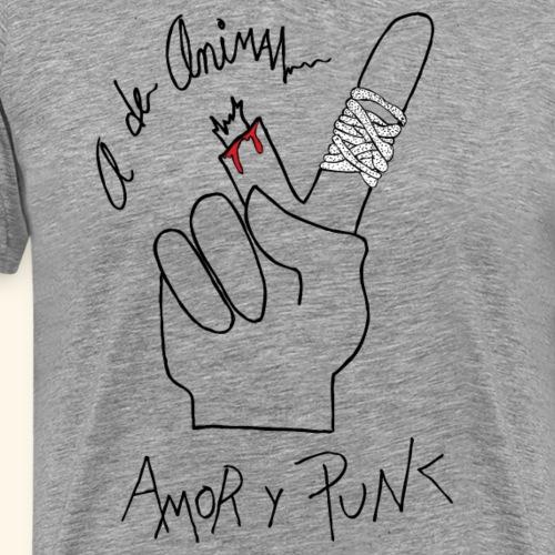 Amor y Punk - Camiseta premium hombre