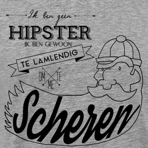 Ik ben geen hipster - Mannen Premium T-shirt