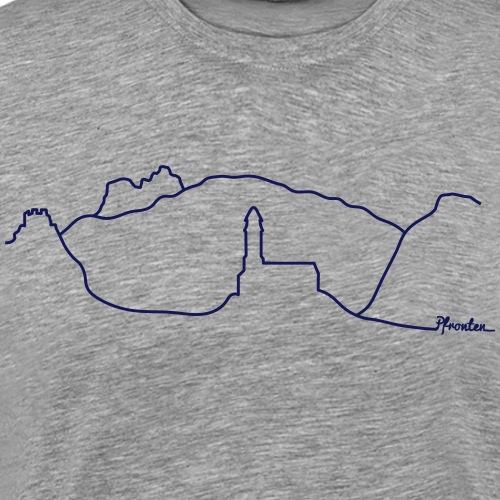 Skyline Pfronten - Männer Premium T-Shirt