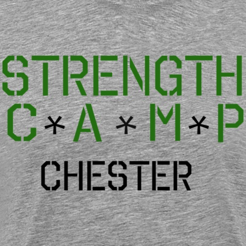 strength camp green and black - Men's Premium T-Shirt