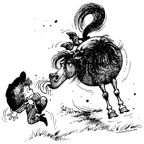 Thelwell 'Pony sticks out his tounge. - Men's Premium T-Shirt