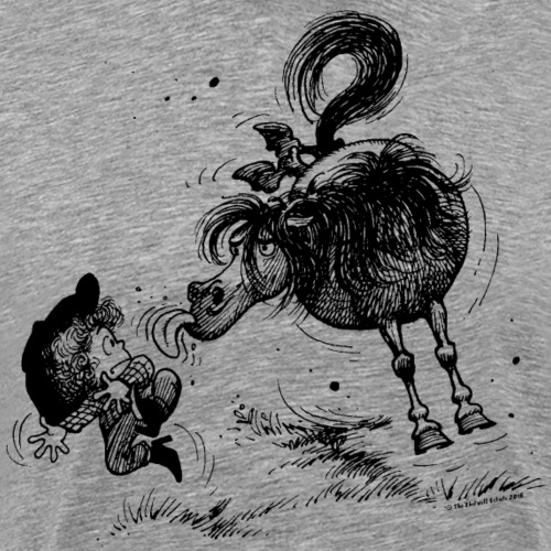 Thelwell 'Pony sticks out his tounge. - Männer Premium T-Shirt