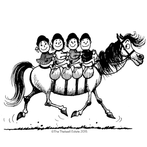 Gang of four Thelwell Cartoon - Men's Premium T-Shirt
