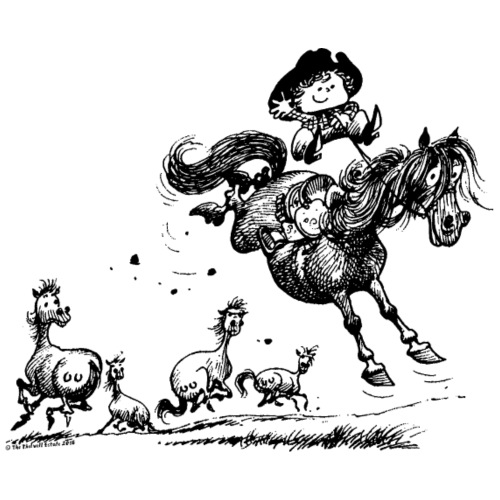 Thelwell 'Cowboy Western riding' - Men's Premium T-Shirt