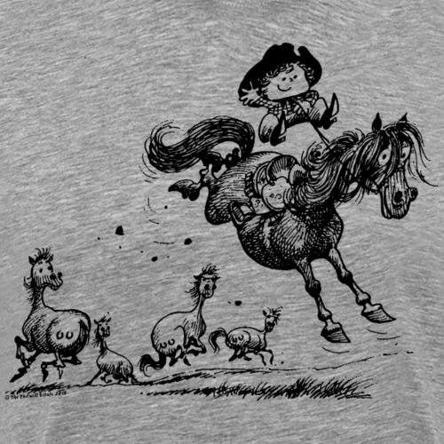Thelwell Cowboy Westernrodeo - Männer Premium T-Shirt