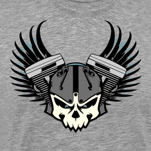 Totenkopf - Zweizylinder - Motorrad - Männer Premium T-Shirt