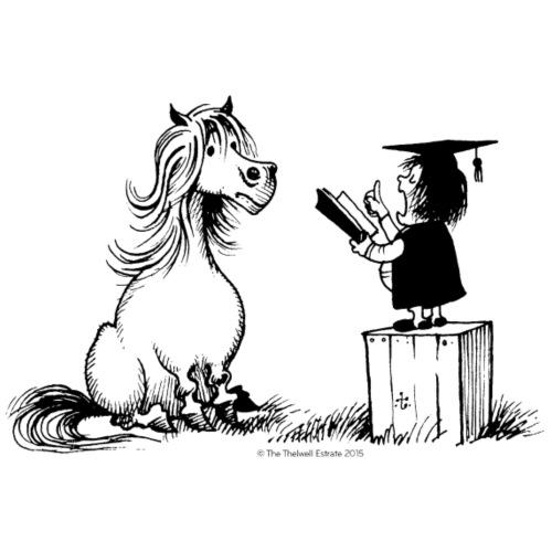Thelwell - Pony in school - Men's Premium T-Shirt