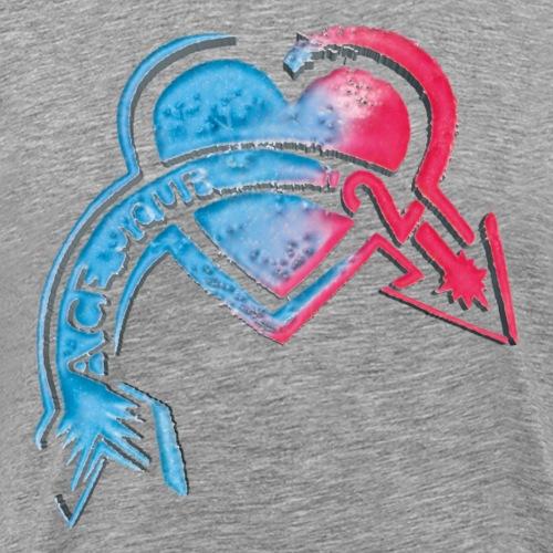 3D Herz - Männer Premium T-Shirt