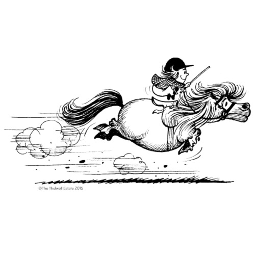 PonySprint Thelwell Cartoon - Men's Premium T-Shirt
