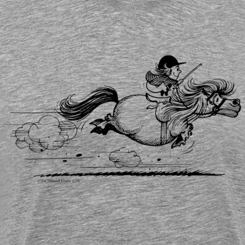 Thelwell Cartoon Pony Sprint - Männer Premium T-Shirt