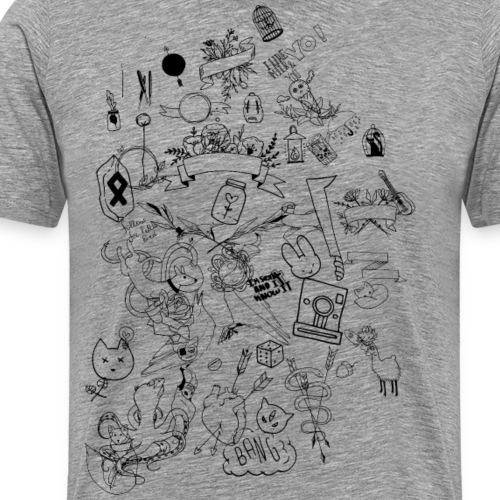 Skizzen - Männer Premium T-Shirt