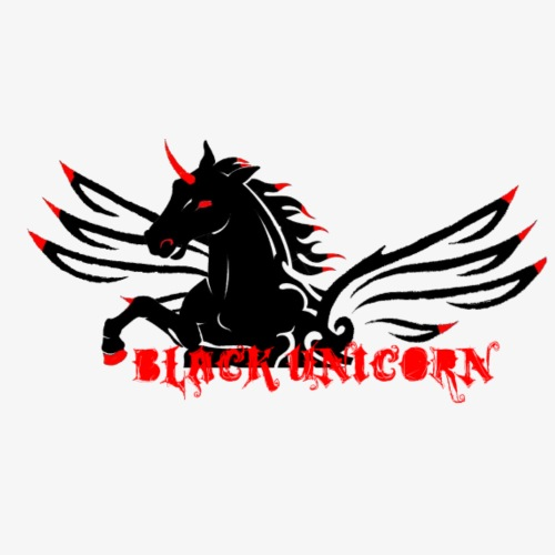 BlackUnicorn logo red font - Men's Premium T-Shirt