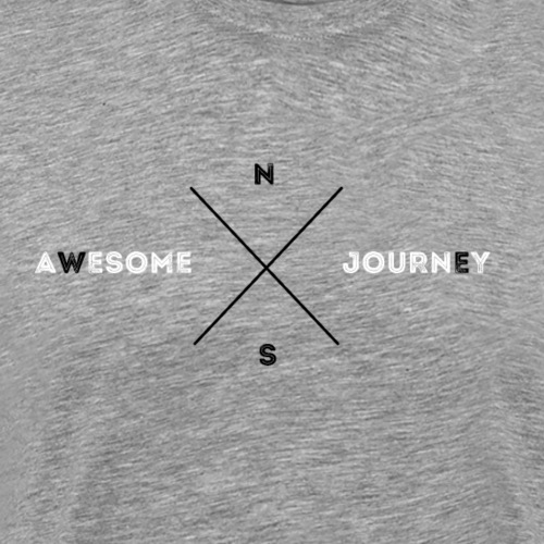 Awesome Journey T-shirt (WHITE & BLACK EDITION) - Mannen Premium T-shirt