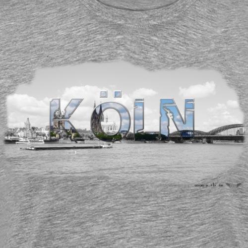 Köln am Rhein von Lieblingsregion (Skyline) - Männer Premium T-Shirt