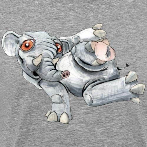 Break Elephant - Herre premium T-shirt