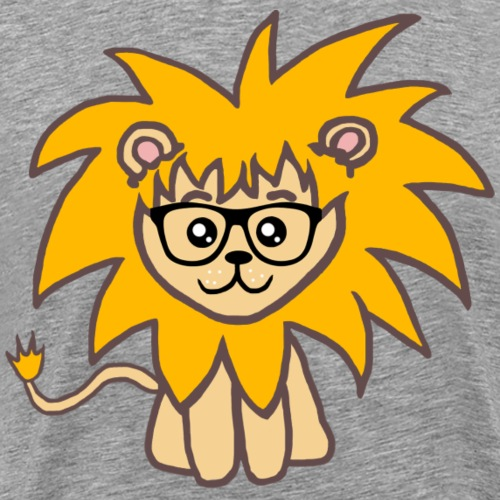 Reading lion - Men's Premium T-Shirt