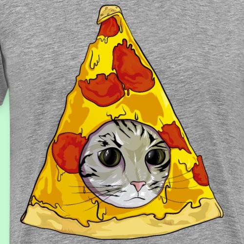 pizza gato meme - Camiseta premium hombre