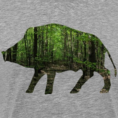 Waldsau-Shirt für Jäger/innen - Männer Premium T-Shirt