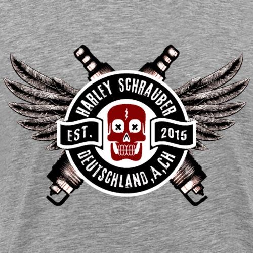 Schrauber D A CH Logo s w - Männer Premium T-Shirt