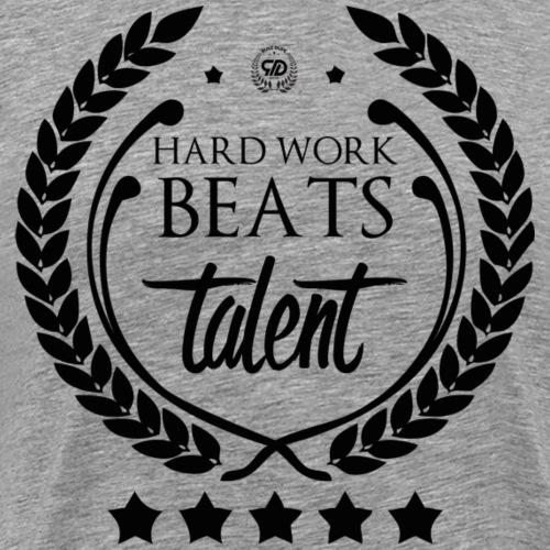 HARD WORK BEATS TALENT - Koszulka męska Premium