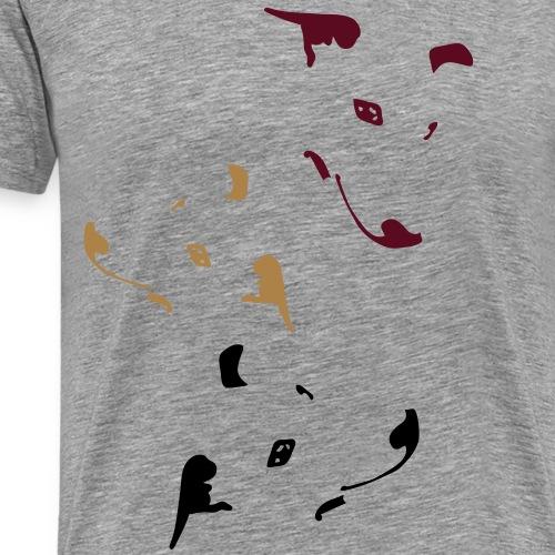 Whippet Virgules - T-shirt Premium Homme