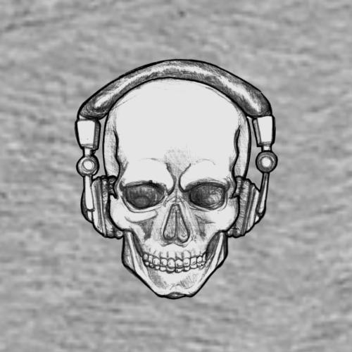 HEAD SCULL MUSIC - Premium T-skjorte for menn