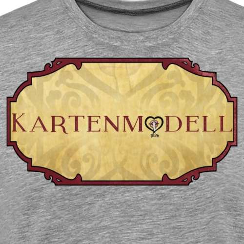 Kartenmodell mit Hintergrund - Männer Premium T-Shirt