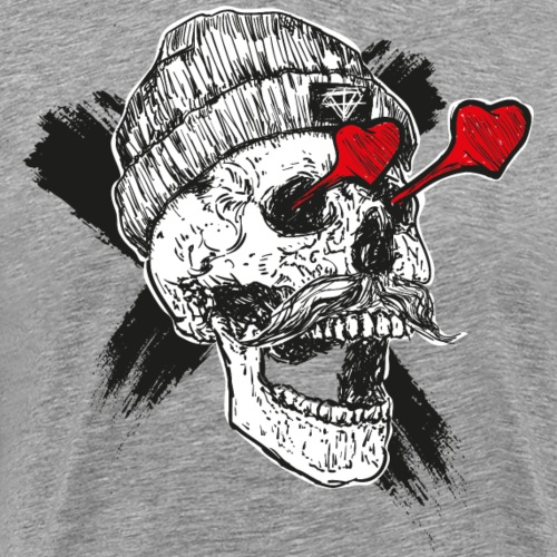 totenkopf hipster tattoo - Männer Premium T-Shirt