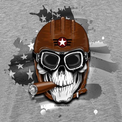AMERICAN PILOT - SKULL - USA - LAHJATUOTTEET 20-16 - Miesten premium t-paita