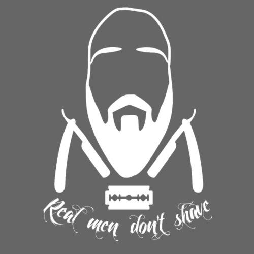 Real men don't shave 2 - Miesten premium t-paita