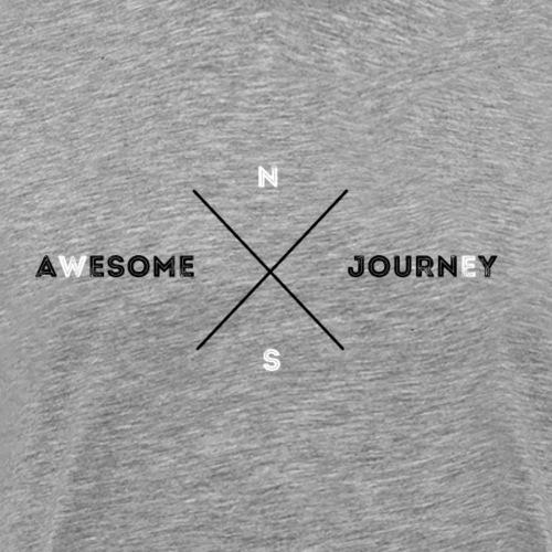 Awesome Journey T-shirt (BLACK / WHITE EDITION) - Mannen Premium T-shirt