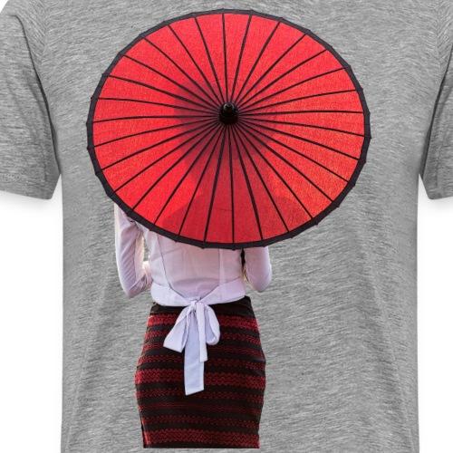 Woman with a Umbrella - Männer Premium T-Shirt