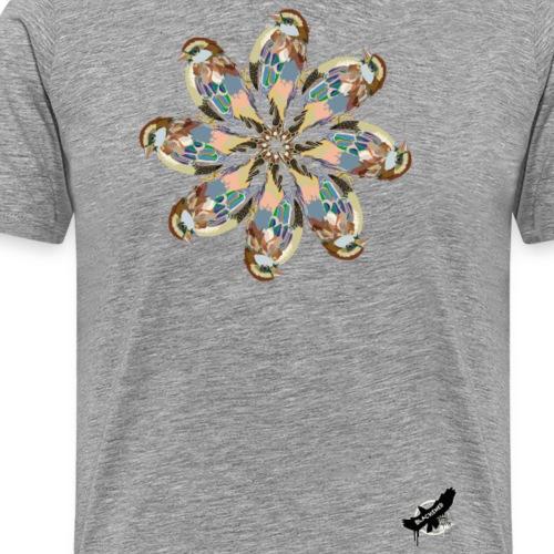 'Sparrow Mandala' by BlackenedMoonArts, w. logo - Herre premium T-shirt