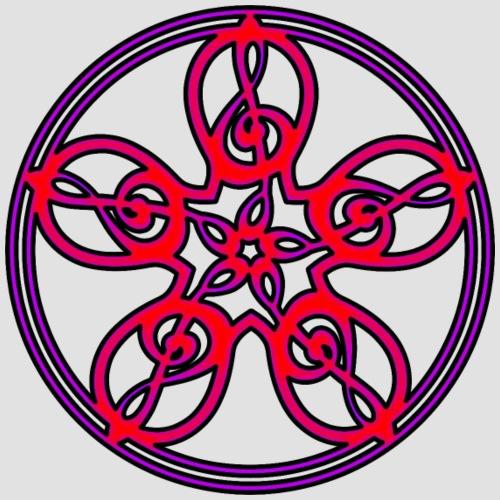 Treble Clef Mandala (red/violet/black) - Men's Premium T-Shirt