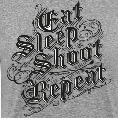 Eat Sleep Shoot Repeat BLB (Archery by BOWTIQUE) - Männer Premium T-Shirt