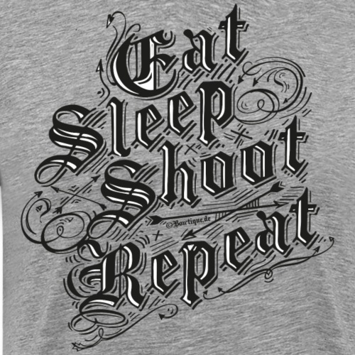 Eat Sleep Shoot Repeat BLB (Archery by BOWTIQUE) - Männer Premium T-Shirt