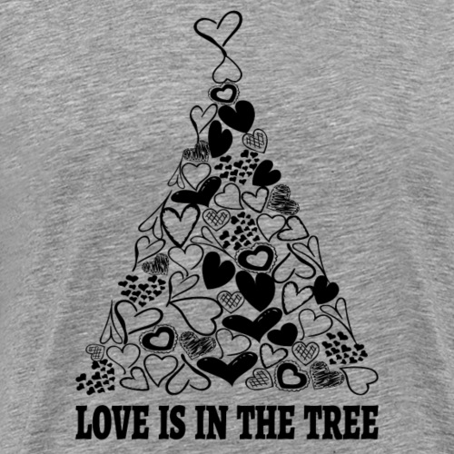 Love is in the Tree Christmas sw - Männer Premium T-Shirt
