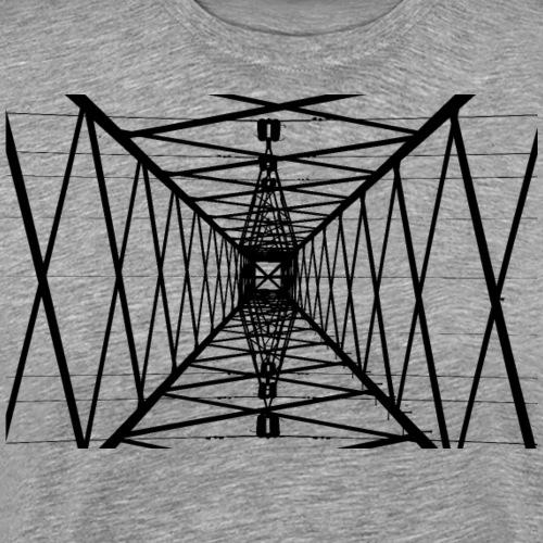Quermast Schwarz - Männer Premium T-Shirt