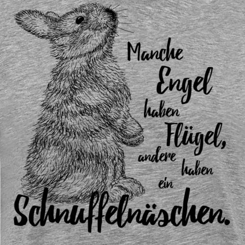 Kaninchen Hasen Zwergkaninchen Engel Liebe - Männer Premium T-Shirt