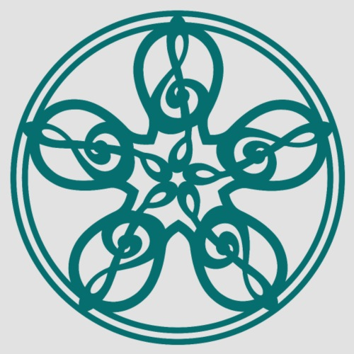Treble Clef Mandala (teal) - Men's Premium T-Shirt