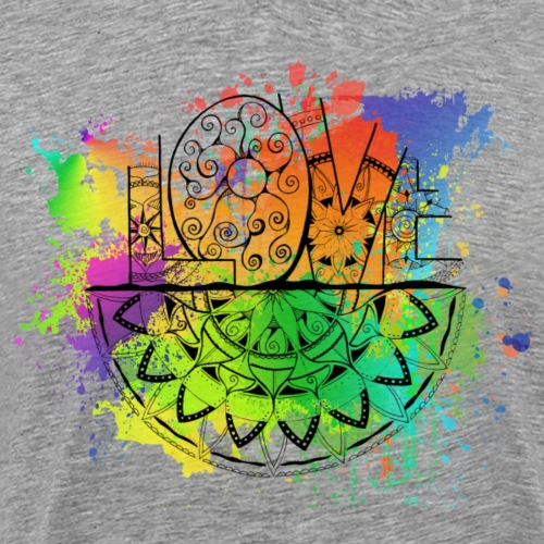 Love Mandala bunt, Liebe ist... - Männer Premium T-Shirt