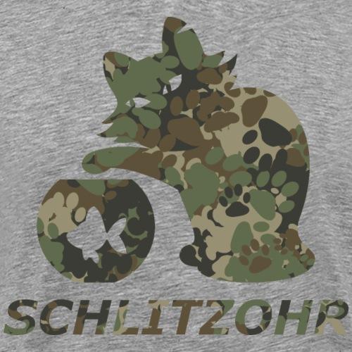 Schlitzohr classic camouflage Logo - Männer Premium T-Shirt