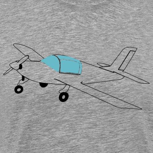 morane Flugzeug Pilot Geschenk fliegen Hobby - Männer Premium T-Shirt