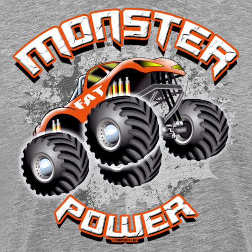 11A-02 MONSTER POWER TRUCK - FAT WHEEL - Miesten premium t-paita