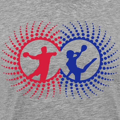 Handballer Punkte Spirale Duo - Männer Premium T-Shirt
