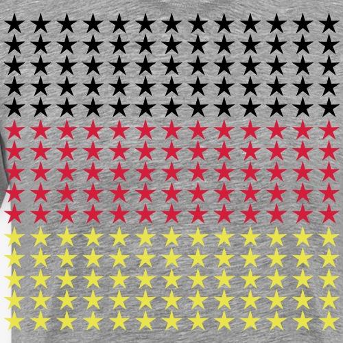 46 Deutschland Fahne schwarz rot gold Sterne - Männer Premium T-Shirt