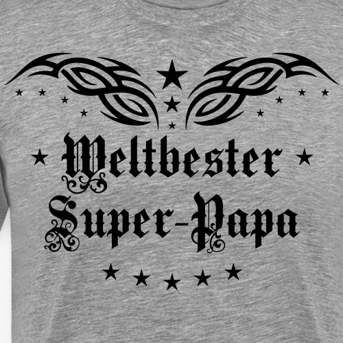 37 Weltbester Super Papa Tattoo Tribal Wings Star - Männer Premium T-Shirt