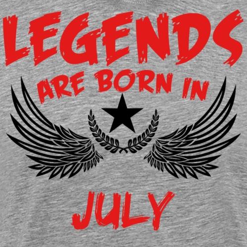 Geburtstag Juli Legenden geboren Geschenk Geburt - Männer Premium T-Shirt