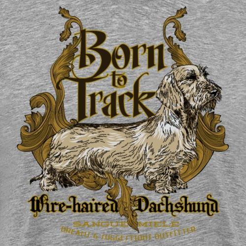 dachshund_born_to_track - Maglietta Premium da uomo