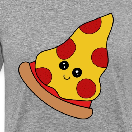 Pizzastück Pizza Kawaii lustige lecker Fastfood - Männer Premium T-Shirt